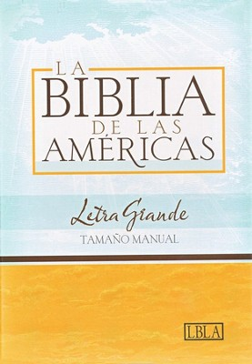 LBLA Biblia Letra Grande Tamano Manual, LBLA Hand Size Giant  Print Bible, Black Bonded Leather, Thumb-Indexed  -     By: Holman Bible Editorial Staff