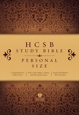 HCSB Personal Size Study Bible, Paperback  -