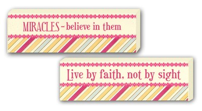 Live By Faith Not By Sight, Miracles Reversible Plaque   -