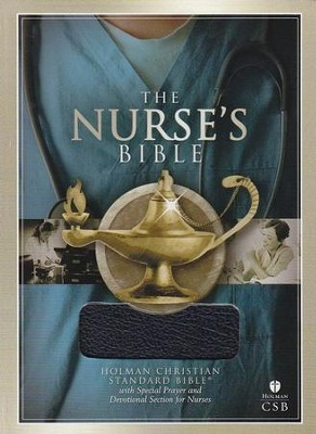 HCSB Nurse's Bible, Blue Bonded Leather - Imperfectly Imprinted Bibles  -