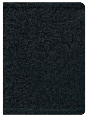 HCSB Study Bible, Black Genuine Leather, Thumb-Indexed   -
