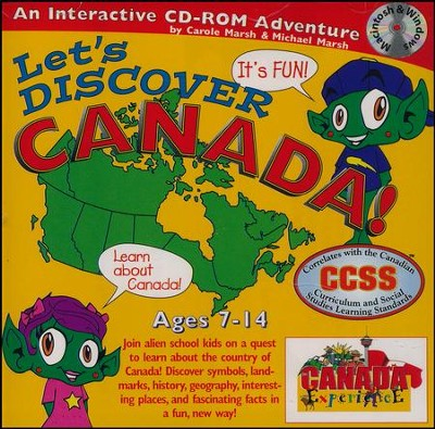Let's Discover Canada CD-ROM, Grades 2-8   -     By: Carole Marsh
