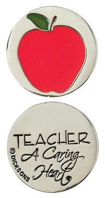 Teacher A Caring Heart Pocket Stone  -