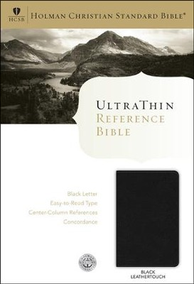 HCSB UltraThin Reference Bible (Black Letter Edition) Black Imitation Leather  -