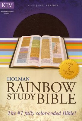 KJV Rainbow Study Bible, Brown Bonded Leather  -