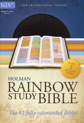 NIV Rainbow Study Bible, Brown Bonded Leather  -