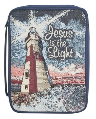 Jesus is the Light Tapestry Bible Cover, Large  -