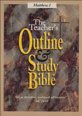Teacher's Outline & Study: KJV, Matthew Vol. 1   -