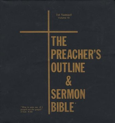 1 Samuel [The Preacher's Outline & Sermon Bible, KJV Deluxe]   -