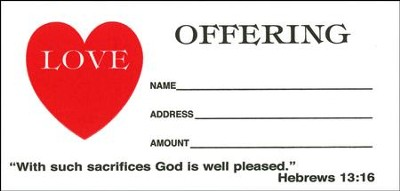 Love Offering Envelope, Package Of 100   -