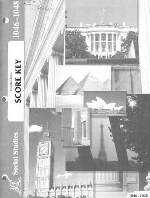Social Studies PACE SCORE Key 1046-1048 (4th Edition)   -