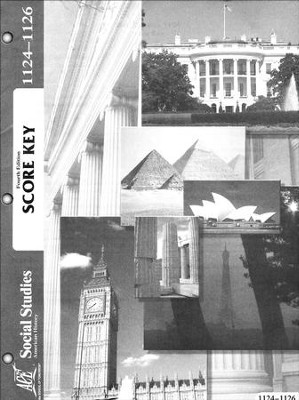 4th Edition American History Score Key 1124-1126   -