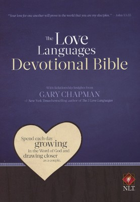 NLT Love Languages Devotional Bible Soft Leather-look Chocolate/Mahogany Tree Bark Grain  -     By: Gary Chapman