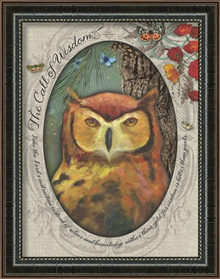 The Call Of Wisdom, Owl Framed Art  -