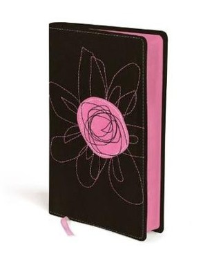 NIV True Images: The Bible for Teen Girls, Espresso and Pink Flower, Italian Duo-Tone  -
