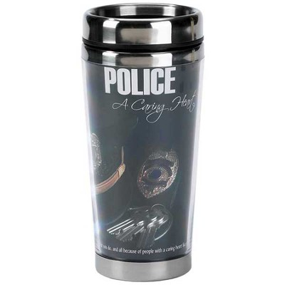 Police Travel Mug, A Caring Heart  -