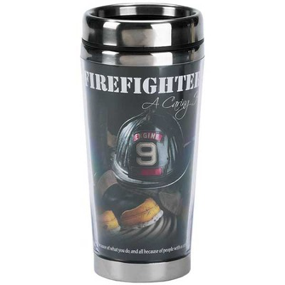 Firefighter Travel Mug, A Caring Heart  -