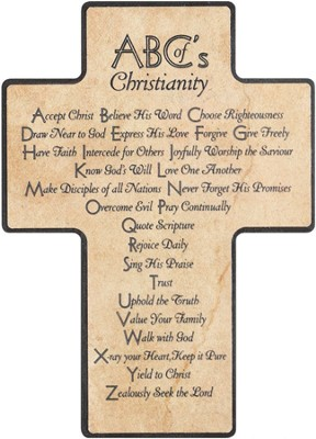 ABCs of Christianity Cross, Wood  -