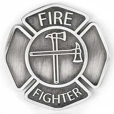 Firefighter Pocket Stone, A Caring Heart  -