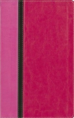 King James Version Reference Bible, Italian Duo-Tone, Pink  -     By: Zondervan