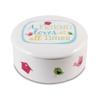 A Friend Loves At All Times Trinket Box  -