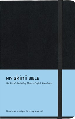 NIV Skinii Bible, Italian Duo-tone, Black, Hard Case  -     By: Zondervan