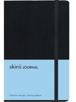 Skinii Journal, Italian Duo-Tone, Black, Hard Case  -     By: Zondervan