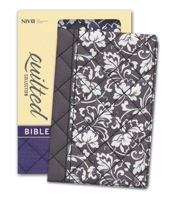 NIV Quilted Collection Bible, Compact, Flexcover, Black Floral  -     By: Zondervan