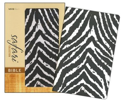 NIV Safari Collection Bible, Flexcover, Bonded Leather, Zebra  -