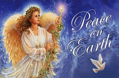 Peace On Earth Angel, Floor Mat  -     By: Donna Gelsinger