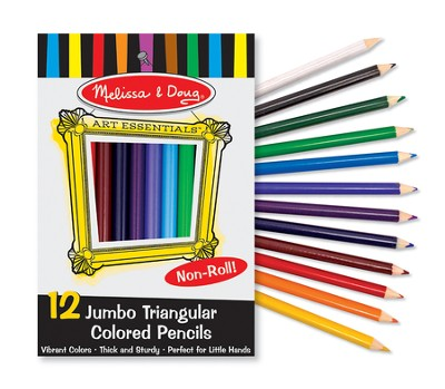 Jumbo Triangular Colored Pencils, Set of 12  -