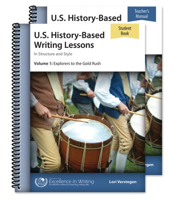 US History-Based Writing Lessons, Explorers to the Gold  Rush, Volume 1 Set (Third Edition)   -     By: Lori Verstegen