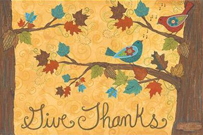 Give Thanks--Floor Mat   -     By: Annie LaPoint