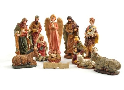 Tabletop Nativity Set, 12 pieces   -