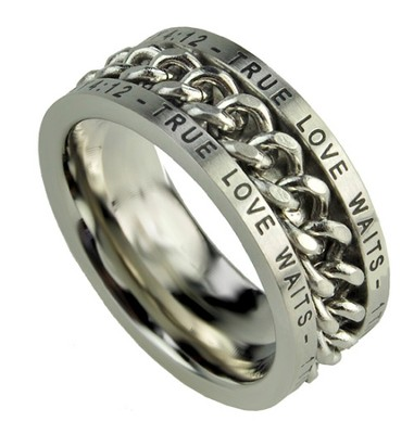 Chain Ring, True Love Waits, Size 14  -