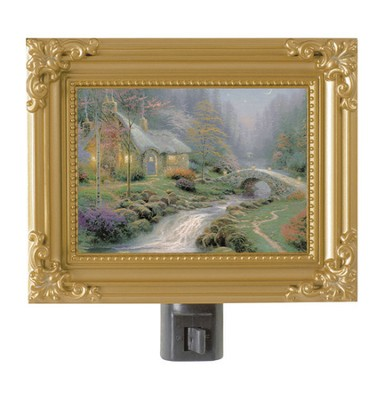 Twilight Cottage, Nightlight   -     By: Thomas Kinkade
