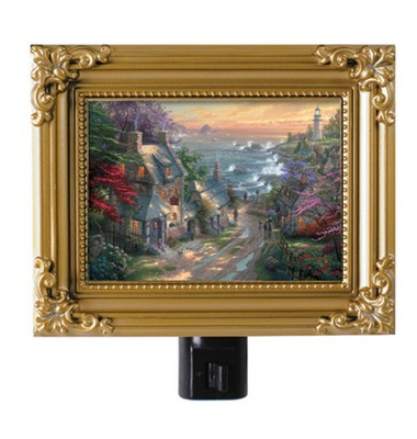 The Village Lighthouse, Nightlight   -     By: Thomas Kinkade