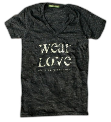 Wear Love Shirt, V Neck, Eco Black, Extra Small   -