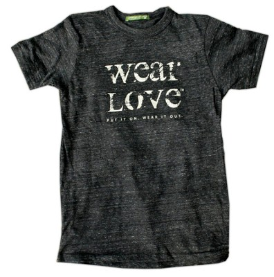 Wear Love Shirt, Crew Neck, Eco Black,  XX Large   -