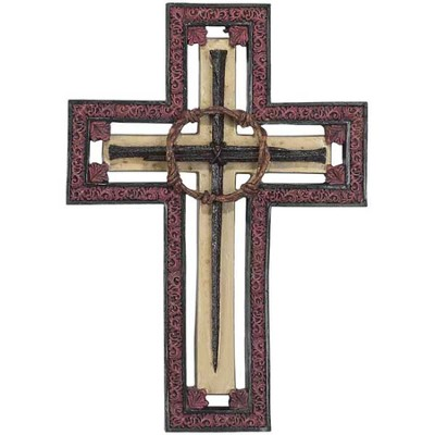 Crown of Thorns Wall Cross  -