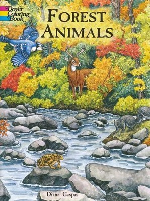 Forest Animals Coloring Book  -     By: Diane Gaspas