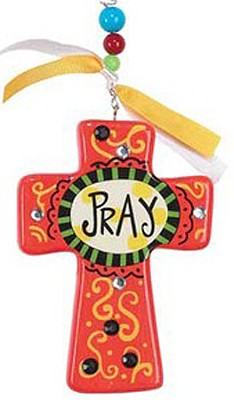 Pray Cross, Orange  -