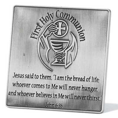 First Communion Plaque, Silver  -