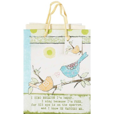 His Eye Is On the Sparrow Gift Bag, Medium   -     By: Terri Conrad