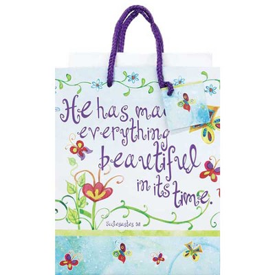 He Has Made Everything Beautiful Gift Bag, Medium  -     By: Audrey Jeanne Roberts