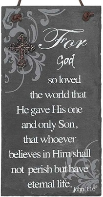 For God So Loved the World Plaque  -