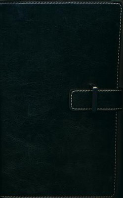 NIV Thinline Bible, Leather Bound, Black  -     By: Zondervan