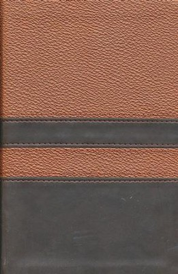 NIV Men's Devotional Bible, Compact, Italian Duo-Tone, Walnut/Espresso  -