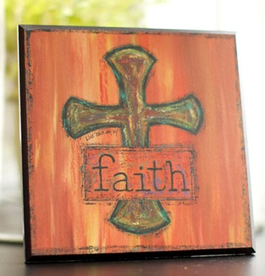 Cross Plaque. Faith  -