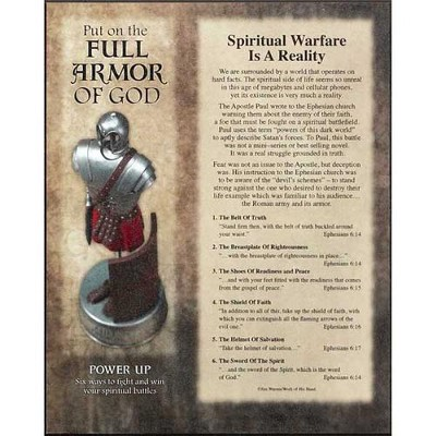Full Armor of God Mounted Print  -